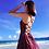 Thumbnail: DQ90121 酒红后绑沙滩裙