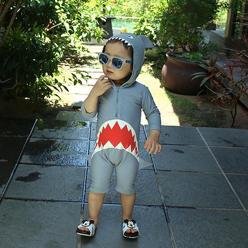 KYM9912 Shark Hoodie One Piece Kidswear