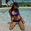 Thumbnail: SN202013 Blue Straps Style Simple Bikini