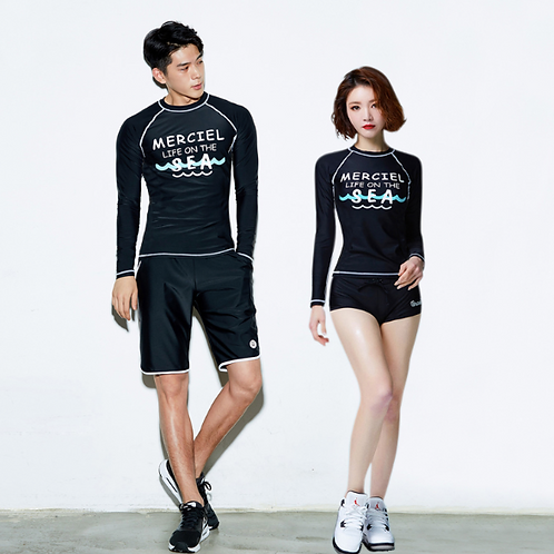 RCON19181 Merciel Couple Rash Guard