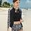 Thumbnail: SOBR8748 拉链长袖外衫平角3件套比基尼