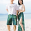 Thumbnail: RCSHL73344 Tropicana Crop top Couple set