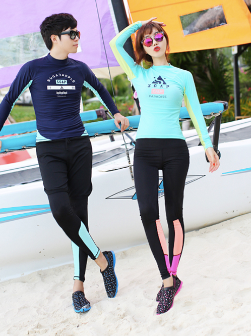 RSN7891拼色长袖长裤泳装(女款)