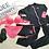 Thumbnail: RSN17029 Pink Bikini w Black Rash Guard 5pcs set