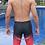 Thumbnail: MSYY25211 Red Black Radiant Men Swim Trunk