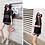 Thumbnail: RSN89011黑网外衫运动型平角3件套泳衣