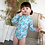 Thumbnail: SZDD09232 Unicorn Blue One Piece Kids Rash Guard (Unisex)