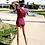 Thumbnail: SN1774 酒红拉链连身配抹胸泳装