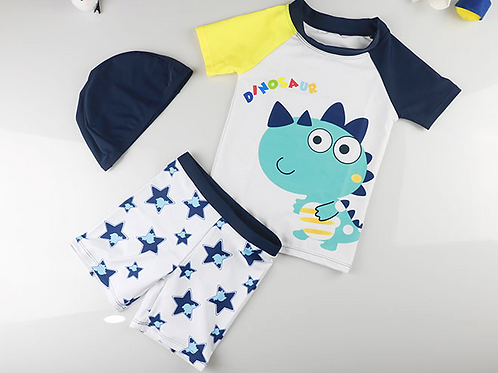 RKDYM1977 Little Blue Dinosaur 2pcs kids swimwear