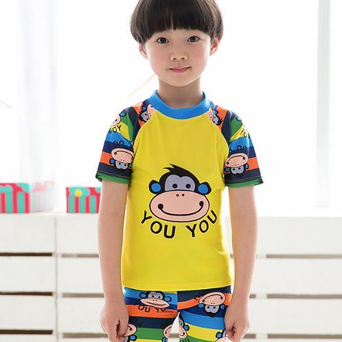 RKYY34211可爱猴子图案男童泳衣