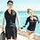 Thumbnail: RCT17890 拉链黑拼色情侣长袖套装