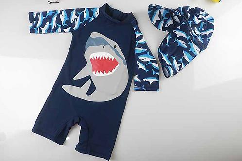 KYM9787 Blue Sharks One Piece Kidswear