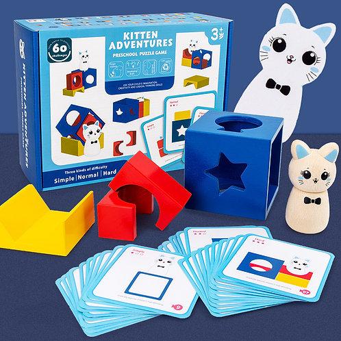 Kitten Adventure Preschool Puzzle Game 小猫魔术箱益智拼块