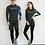 Thumbnail: CNN1915酷黑拼蓝情侣长袖泳衣套装