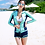 Thumbnail: RHM1728 蓝绿长袖女款4件套
