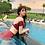 Thumbnail: SNN19760 Maroon Flounce High Waist Bikini