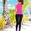 Thumbnail: SN18298粉拼黑长袖长裤三件套泳装
