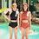 Thumbnail: RSN20769 Crop top Round Neck High Waist Bikini