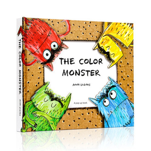The Color Monster 3D pop up book