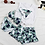 Thumbnail: SMQ17011 绿叶图案无袖上衣四件套比基尼