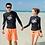 Thumbnail: RML1737 黑长袖橘裤泳装( 男款)