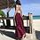 Thumbnail: DQ1995 Maroon Halter Back Beach dress