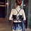 Thumbnail: RSBBS7032 复古后绑平角裤披纱比基尼