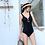 Thumbnail: RSNN19663 Simple Elegant Halter Back Monokini