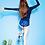 Thumbnail: SN1678 长袖蕨叶热裤分体泳装