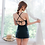 Thumbnail: SN17112 黑色网纱露背三角分体泳装