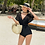 Thumbnail: SN20719 Lace Sleeve One Piece Swimwear