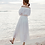 Thumbnail: DQ19884 White Off Shoulder Beach Dress