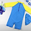 Thumbnail: KYM9701 Sea Friends One Piece + Hat Kids Swimwear