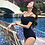 Thumbnail: SN19702 Cross Off Shoulder Monokini