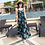Thumbnail: DQ9169 Green Leaf Front Button Beach Dress