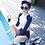 Thumbnail: SN1576 藏蓝配白长袖高腰比基尼