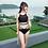 Thumbnail: RST19801Black Gauze Cross Back Bikini