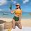 Thumbnail: SVV1947 Yellow Flounce Top Green High waist bikini