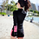 Thumbnail: RSN17029 Pink Bikini w Black Rash Guard 5pcs set