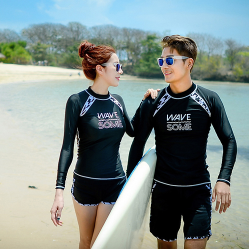 CSN1928 Wavesome Couple Rash Guard