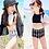 Thumbnail: KYD5176 酷炫女童高腰比基尼送防晒衫
