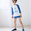 Thumbnail: KHYS6129 牛仔色男女童长袖泳装