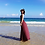 Thumbnail: RDQ90121 酒红后绑沙滩裙