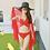 Thumbnail: SAN8601纯色披纱比基尼三件套