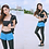 Thumbnail: SN19023 Zip Rash guard Blue Pant 4pcs set