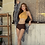 Thumbnail: SN19633 Yellow Brown Bikini With Scarf