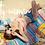 Thumbnail: SN19775 Baby Pink Flounce tie back Stripe HighWaist Bikini