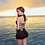 Thumbnail: SN18921连体裙式后绑修身泳衣