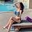 Thumbnail: SQXN1930 Flora Blue Flounce Bikini 2pcs/3pcs set
