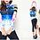 Thumbnail: SN17090 彩色长袖五分裤三件套